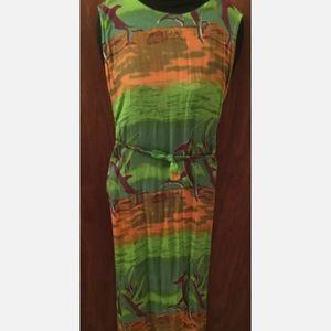 2/20$ Dolphin print long dress cotton sundress New